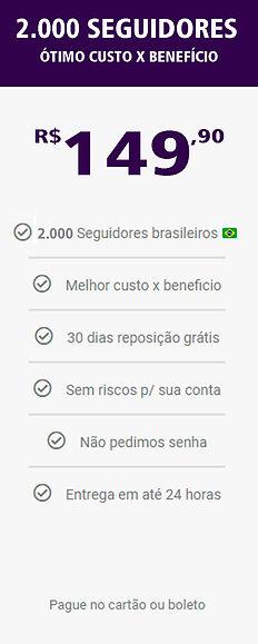 2.000 seguidores reais e brasileiros do