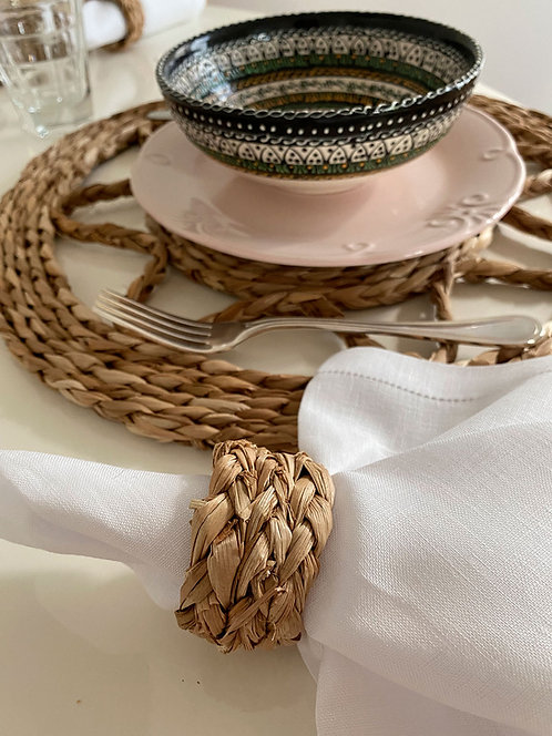 Porta guardanapo de palha  taboa feito à mão