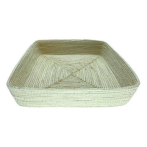 Bandeja de palha ouricuri feito à mão