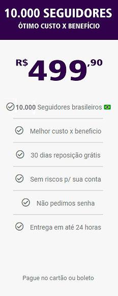 10.000 seguidores reais e brasileiros do