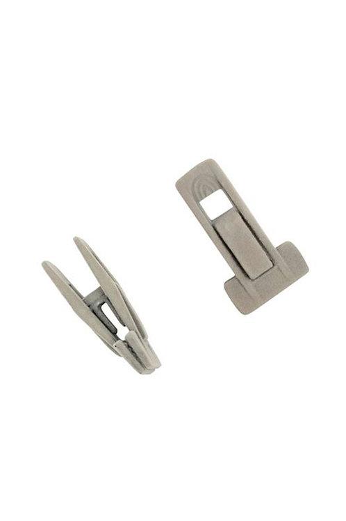 Kit com 8 presilhas (4 pares) para cabide de veludo Cool Grey