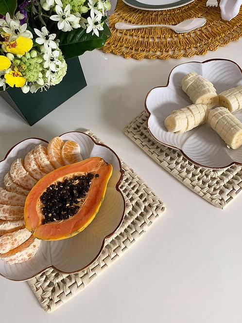Conjunto de Descanso de travessa palha ouricuri feito à mão