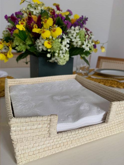 Porta guardanapo  palha de ouricuri feito à mão