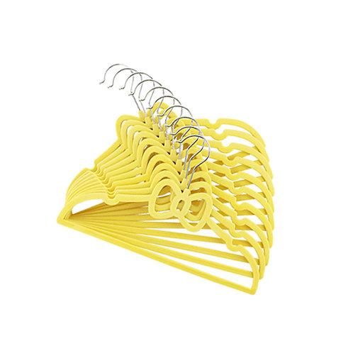 Cabide de Veludo Infantil Yellow 120 unid.