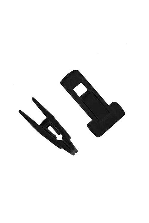 Kit com 8 presilhas (4 pares) para cabide de veludo preto