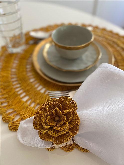 Porta guardanapo de palha buriti feito à mão