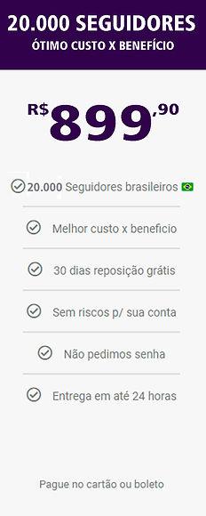 20.000 seguidores reais e brasileiros do
