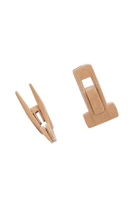 Kit com 8 presilhas (4 pares) para cabide de veludo nude