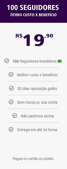 100 seguidores reais e brasileiros do in