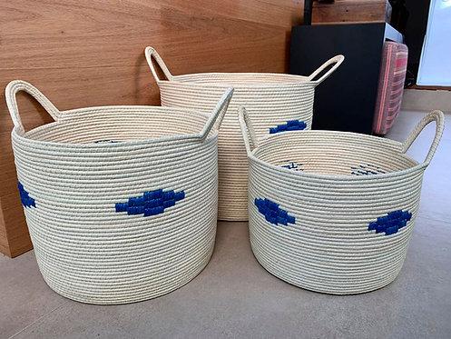 Conjunto de  cestos de palha ouricuri feito à mão