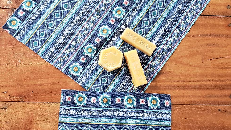 Set of 3 Hawaiian Beeswax Wraps