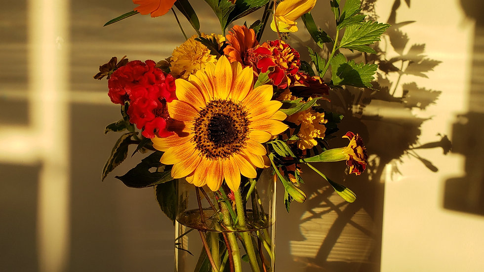 Large Farm Flower and Herb Bouquet