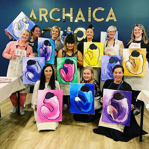 Art Studio in Hobart | Paint and Sip | Art Classes | Archaica Schola | Painting | Paint n Sip