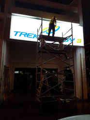 Aluminum frame with acrylic/twinwall panel signage