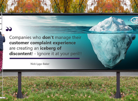 Is your complaints experience creating an iceberg of discontent?!