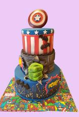 Comic Hulk Cake