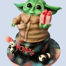 Baby Yoda Star Wars Cake