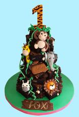 Safari Animal Brownie Stack Cake  £99