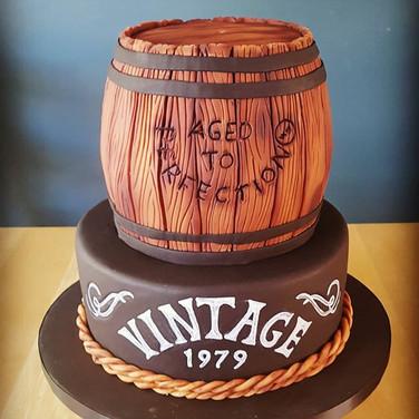 Vintage Barrel Cake