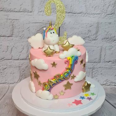 Pretty Unicorn Rainbow Cake