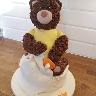 New Baby Teddy Cake