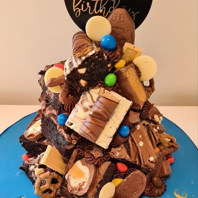 Blue Brownie Stack Cake