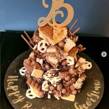 25th Brownie Stack Cake