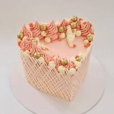 Lattice Heart Cake
