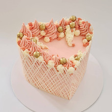 "Lattice Heart Cake  7"" Chocolate cake £99"