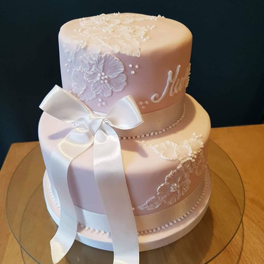 Painted Lace Cake