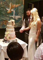 Pink Tiered Wedding Cake