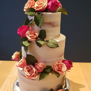 Floral Semi-Naked Cake