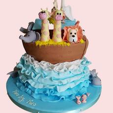 '2 by 2' Noah's Ark Cake