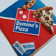 Pizz Box Cake