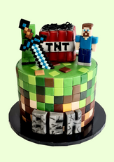 "Minecraft Birthday Cake  7"" Vanilla sponge £110"