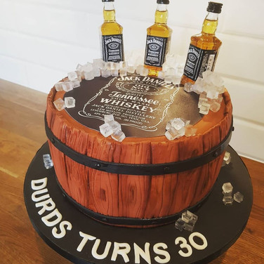 Jack Daniels Barrel Cake