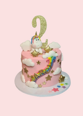 Unicorn & Rainbow Cake