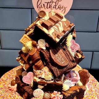 Sweet Brownie Stack Cake