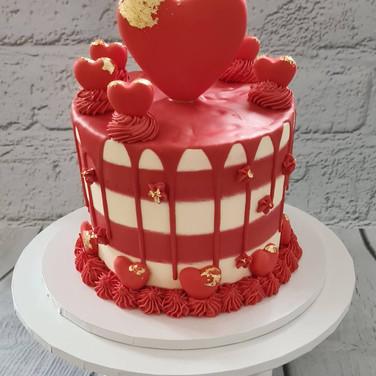 Heart Valentine's Cake