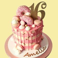 Candy Stripe Drip Cake
