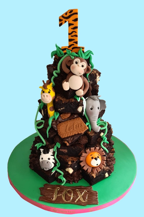 Themed Brownie Stack Cake - Enquire to order