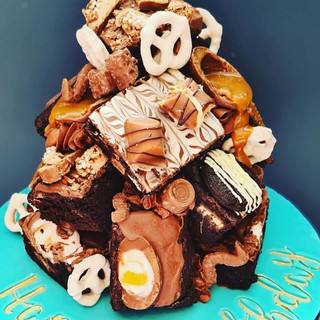 Chocolate Brownie Stack Cake