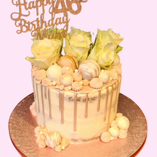 Rose Pink Drip Cake