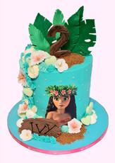 Moana Theme Buttercream Cake