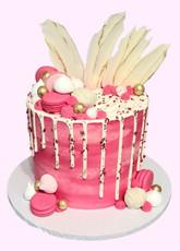 Hot Pink Drip Cake