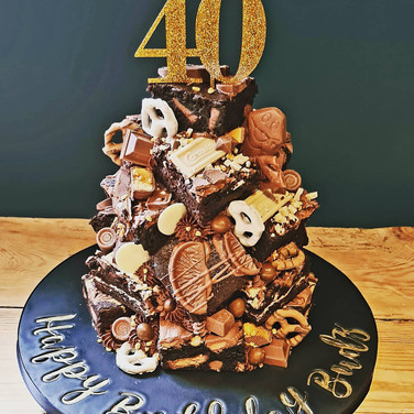 40th Brownie Stack Cake