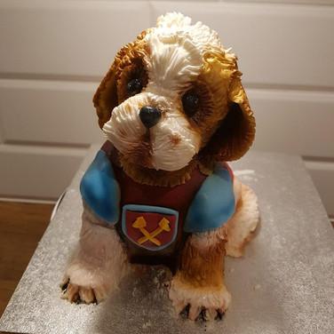 West Ham Dog Cake