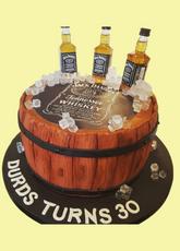 Whisky Barrel Cake