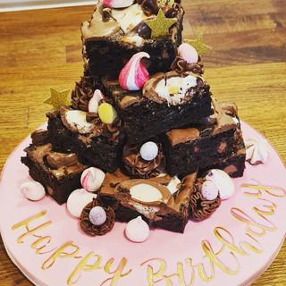 Pretty Brownie Stack Cake