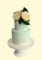"Pastel & Lace Vintage Cake  4"" & 6"" Chocolate cake £110"